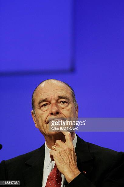 France'S President Jacques Chirac Delivers A Speech At France'S Mayors Congress In Paris France On November 21 2006 French President Jacques Chirac