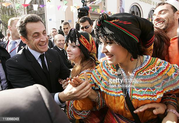 France'S President Nicolas Sarkozy And Algeria'S President Abdelaziz Bouteflika Visits The Eastern City Of Constantine The Last Day Of French...