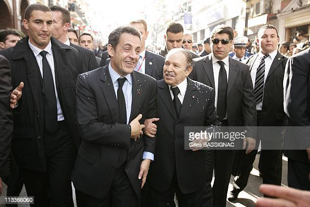 France'S President Nicolas Sarkozy And Algeria'S President Abdelaziz Bouteflika Visit The Eastern City Of Constantine The Last Day Of French...