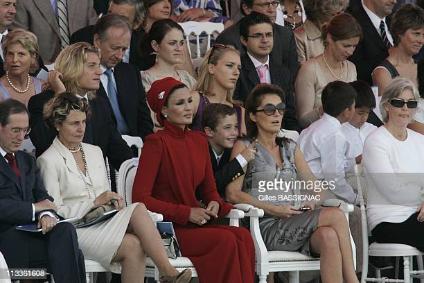 France'S President Nicolas Sarkozy During Bastille Day Ceremonies At The Concorde Place In Paris France On July 14 2007 Claude Gueanthis wife the...