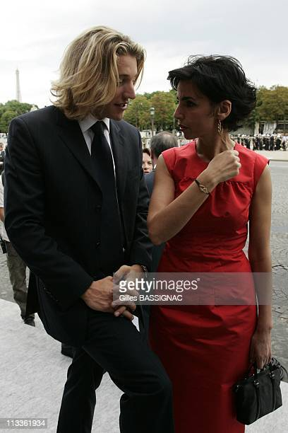 France'S President Nicolas Sarkozy During Bastille Day Ceremonies At The Concorde Place In Paris France On July 14 2007 Jean Sarkozy and Rachida Dati...