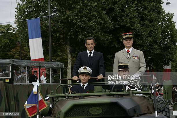 France'S President Nicolas Sarkozy During Bastille Day Ceremonies Along The ChampsElysees In Paris France On July 14 2007 Nicolas Sarkozy The parade...