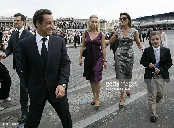 France'S President Nicolas Sarkozy During Bastille Day Ceremonies Along The ChampsElysees In Paris France On July 14 2007 Nicolas Sarkozy Judith...