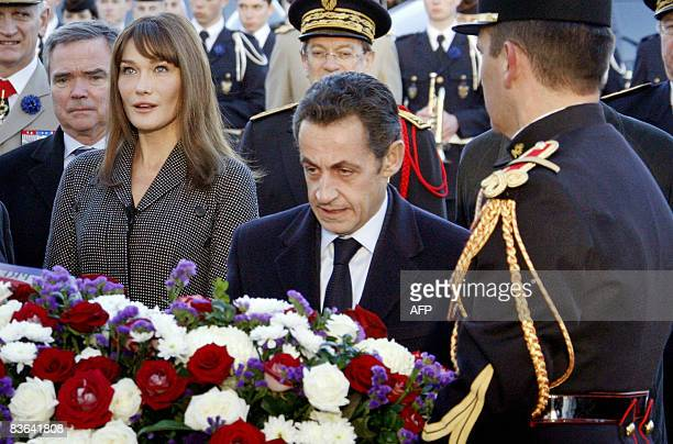 France's President Nicolas Sarkozy his wife Carla BruniSarkozy French National Assembly President Bernard Accoyer and Paris Poice Prefect Michel...