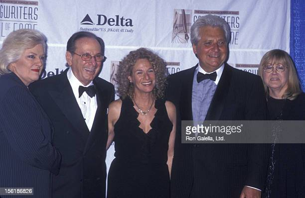 Frances Preston guest musician Carole King Martin Bandier and Linda Moran attend the premiere of 'The Story Of Us' on October 10 1999 at the Ziegfeld...