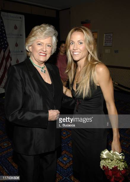 Frances Preston President of the TJ Martell Foundation and Sheryl Crow at the TJ Martell Foundation's 31st Annual Awards Gala at the Marriott Marquis...