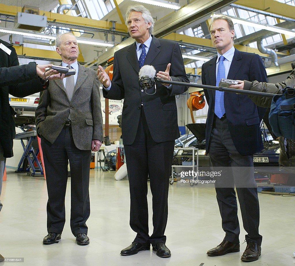 France's Prime Minister Dominique de Villepin Official Visit to Industrial Jobs