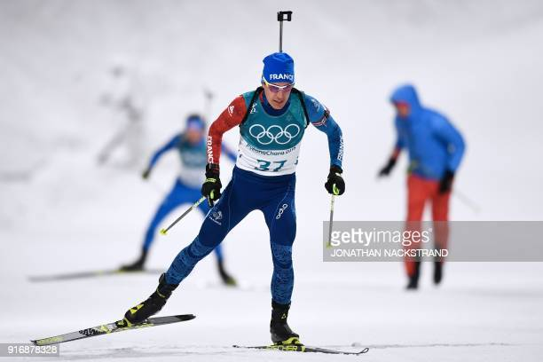 France's Quentin Fillon Maillet competes in the men's 10km sprint biathlon event during the Pyeongchang 2018 Winter Olympic Games in Pyeongchang on...