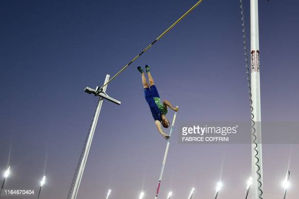 France's Renaud Lavillenie competes in the Men Pole Vault during the IAAF Diamond League competition on August 29 in Zurich.