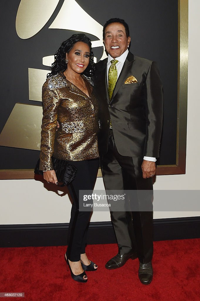 Frances Robinson (L) and and recording artist Smokey Robinson attend The 57th Annual GRAMMY Awards at the STAPLES Center on February 8, 2015 in Los Angeles, California.