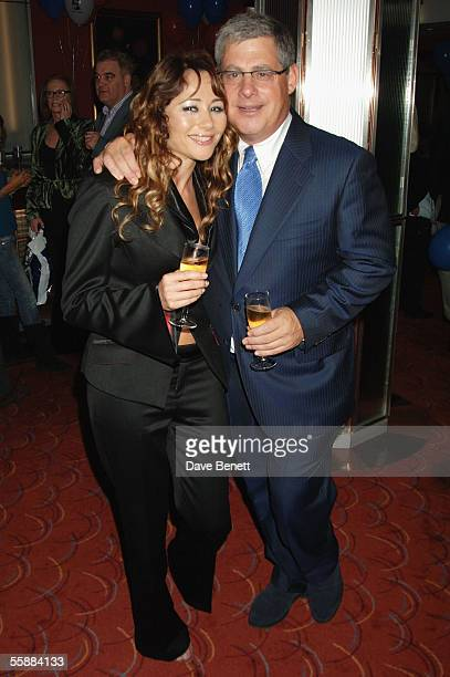 Frances Ruffelle and Cameron Mackintosh attend the 20th Anniversary Celebration of Les Miserables after party at the Prince of Wales Theatre on...