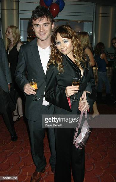Frances Ruffelle and guest attend the 20th Anniversary Celebration of Les Miserables after party at the Prince of Wales Theatre on October 8 2005 in...