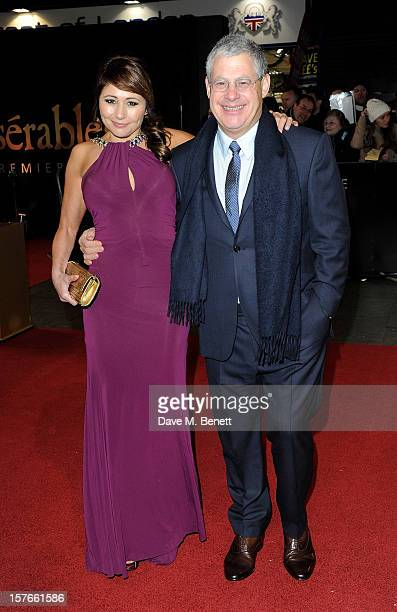 Frances Ruffelle and Sir Cameron Mackintosh attend the World Premiere of 'Les Miserables' at Odeon Leicester Square on December 5 2012 in London...