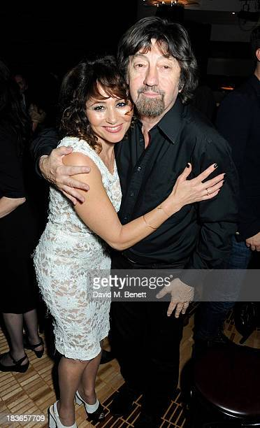 Frances Ruffelle and Sir Trevor Nunn attend the debut of Frances Ruffelle's new one woman show 'Paris Original' at The Crazy Coqs on October 8 2013...