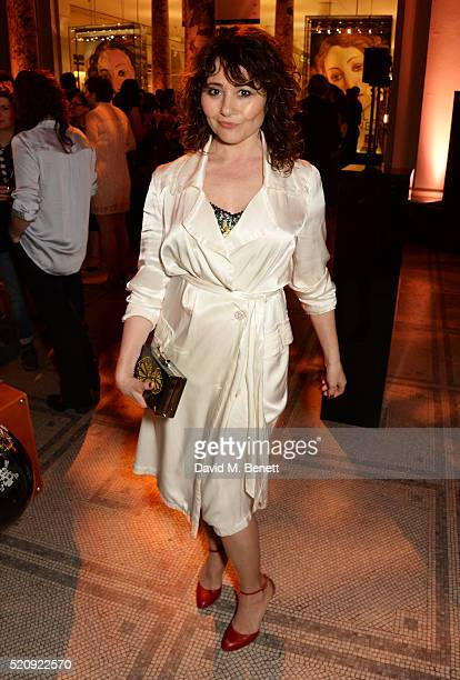 Frances Ruffelle attends a private view of new exhibition 'Undressed A Brief History Of Underwear' at The VA on April 13 2016 in London England
