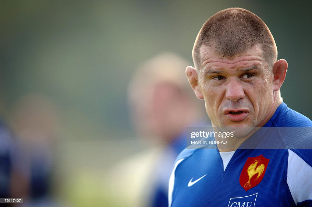 France's rugby union national team prop : News Photo