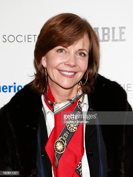 Frances Schultz arrives at Bank of America and Food Wine with The Cinema Society present a screening of 'A Place at the Table' at the Celeste Bartos...