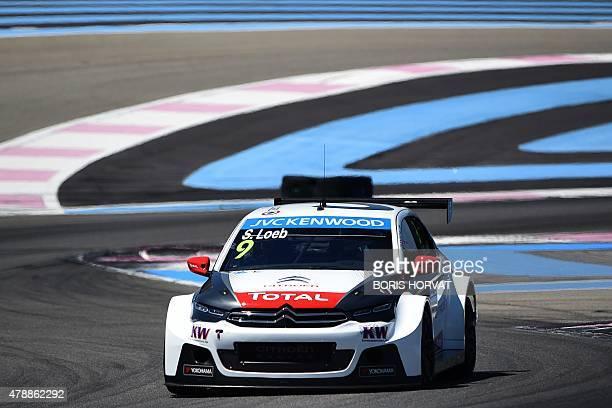 France's Sebastien Loeb competes in the FIA World Touring Car Championship in Le Castellet southern France on June 28 2015 AFP PHOTO / BORIS HORVAT