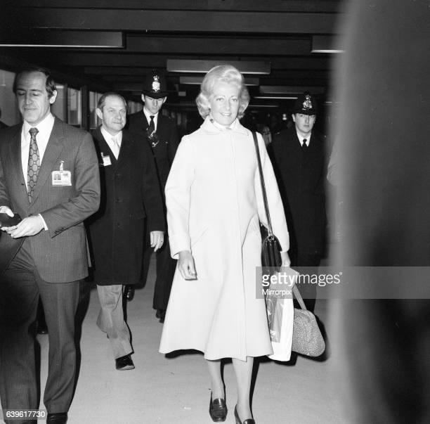 Frances Shand Kydd, mother of Lady Diana Spencer, recently engaged to Prince Charles, receives a great deal of media attention as she arrives at...