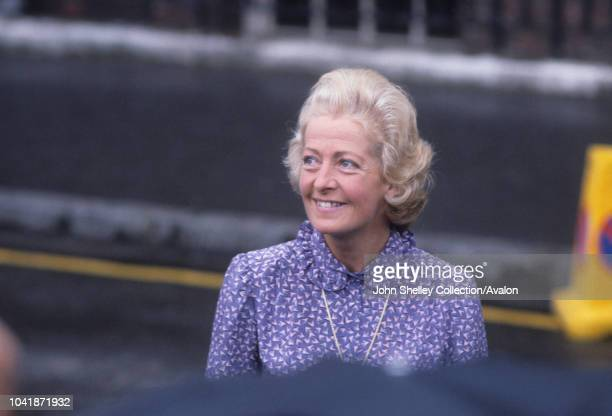 Frances Shand Kydd mother of Princess Diana leaves St Mary's Hospital after visiting her newborn grandson William Arthur Philip Louis London UK 22nd...