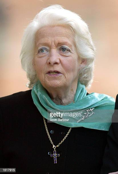 Frances Shand Kydd the mother of the late Diana Princess of Wales arrives at the Central Criminal Court Old Bailey October 24 2002 in London Kydd is...