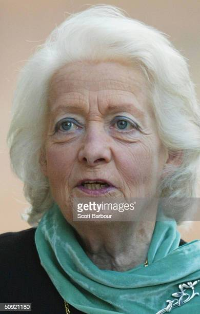 Frances Shand Kydd the mother of the late Diana Princess of Wales arrives at the Central Criminal Court Old Bailey October 24 2002 in London Kydd...