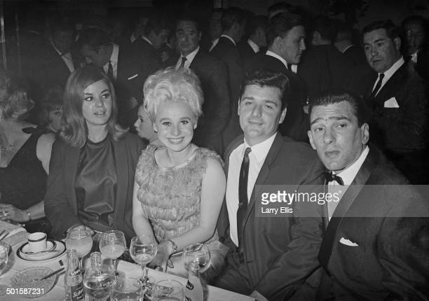 Frances Shea and her husband English gangster Reggie Kray with actress Barbara Windsor and her husband Ronnie Knight an associate of the Krays at the...
