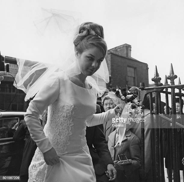 Frances Shea at her wedding to British gangster Reggie Kray at St James's Church in Bethnal Green London 20th April 1965