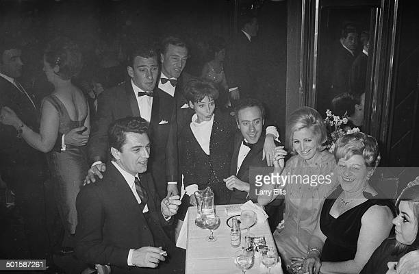 Frances Shea with her husband English gangster Reggie Kray and celebrity guests at the El Morocco a nightclub owned by the Kray Twins in Soho London...