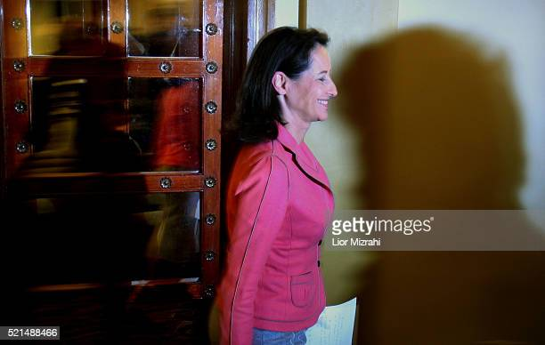 France's socialist presidential candidate Segolene Royal arrives to a press conference in Jerusalem on Monday Dec 04 2006 Royal condemned comments by...