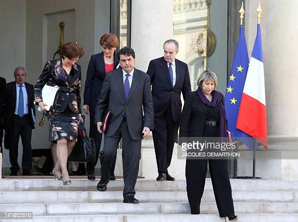 France's Solidarities Minister Roselyne Bachelot-Narquin, France's Junior Minister for Familly Matters Claude Greff, France's Junior Minister for...