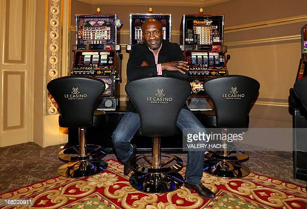 France's Souleymane M'Baye poses on May 7 2013 before a press conference at the Casino of MonteCarlo in the principality of Monaco M'Baye is to fight...