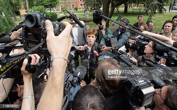 France's Sports Minister Chantal Jouanno speaks to members of the media as she announces the findings of the Sports Ministry's investigation into...