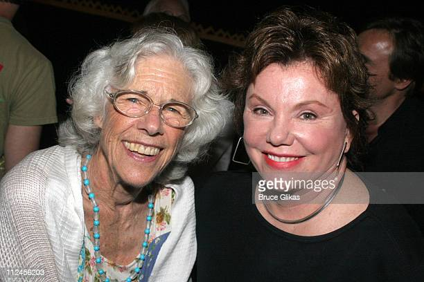 Frances Sternhagen and Marsha Mason during The Pillowman Actors Fund Benefit Performance at The Booth Theater in New York City New York United States