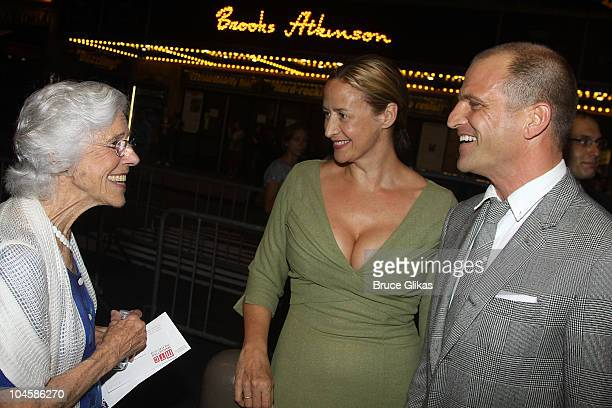 Frances Sternhagen Janet McTeer and Joe Coleman attend The Pitman Painters opening night at the Samuel J Friedman Theatre on September 30 2010 in New...