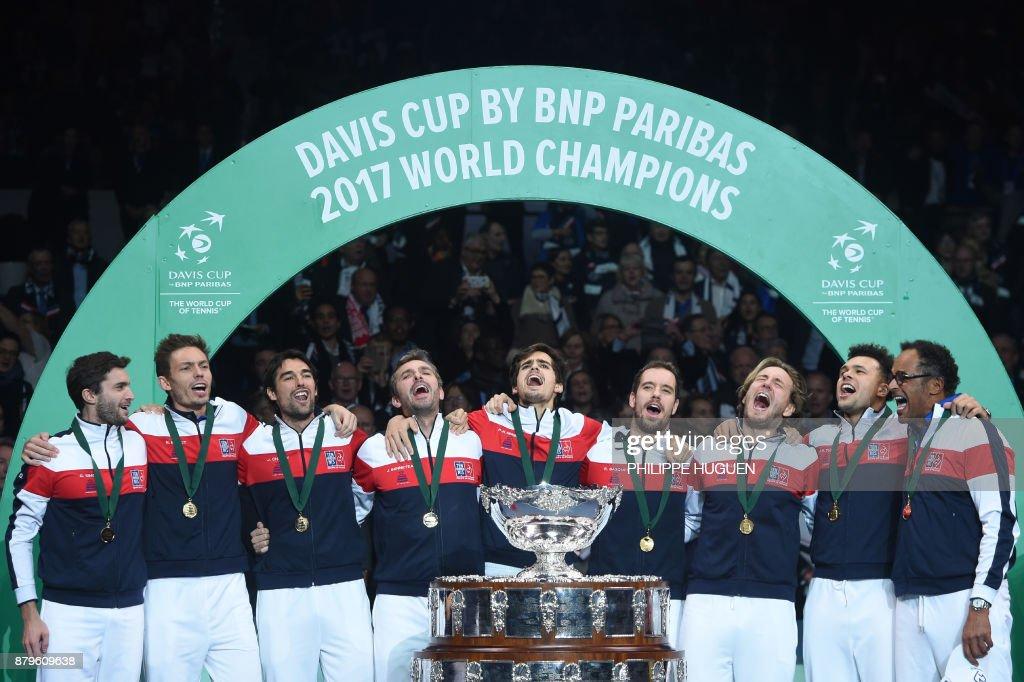 TENNIS-DAVIS-CUP-FRA-BEL : Nachrichtenfoto