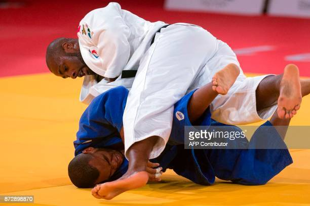 TOPSHOT France's Teddy Riner competes against Cuba's Alex García Mendoza during the Judo World Championships Open in Marrakesh on November 11 2017 /...