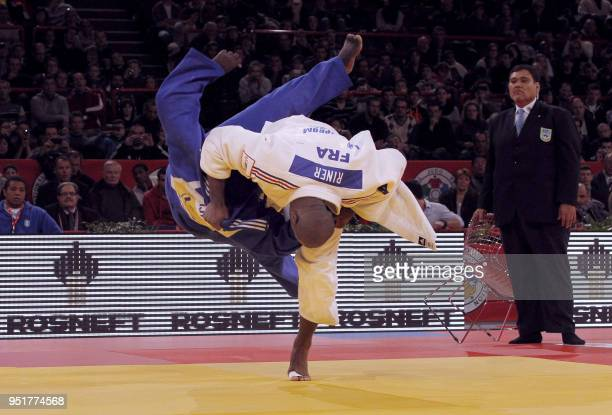 France's Teddy Riner competes against Guatemala's Darrel Castillo during their qualifying round in the over 100kg category during the during the...