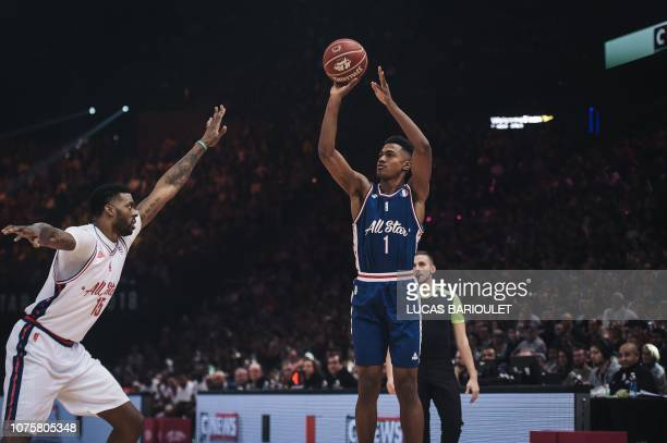 b1d2f973b069 France s Theo Maledon make a shot during an All Star Game basketball match  of the French