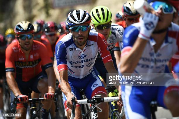 France's Thibaut Pinot rides during the seventeenth stage of the 106th edition of the Tour de France cycling race between Pont du Gard and Gap, in...