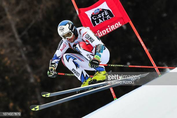 France's Thomas Fanara competes in the the FIS Alpine World Cup Men Giant Slalom on December 16, 2018 in Alta Badia, Italian Alps.