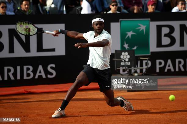 Frances Tiafoe of USA in action in his match against Matteo Berrettini of Italy during day two of the Internazionali BNL d'Italia 2018 tennis at Foro...