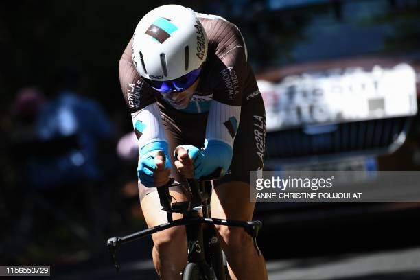 France's Tony Gallopin rides during the thirteenth stage of the 106th edition of the Tour de France cycling race, a 27,2-kilometer individual...