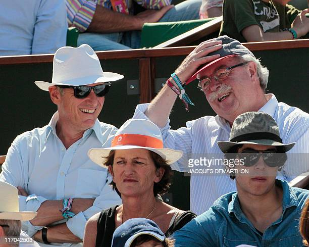 France's Total SA CEO Christophe De Margerie attends the Women's semi final match in the French Open tennis championship at the Roland Garros stadium...