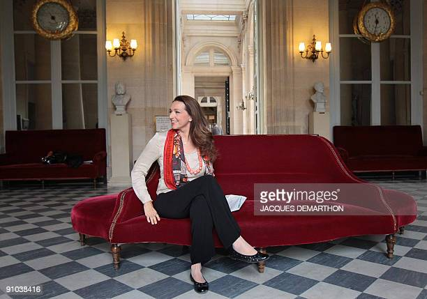 France's UMP governing party member of parliament Valerie Boyer poses on September 23 2009 at the National Assembly in Paris Boyer and some 50 other...