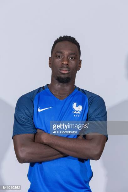 France's Under 21 national football team forward JeanKevin Augustin poses during a photo session at the training center of ClairefontaineenYvelines...