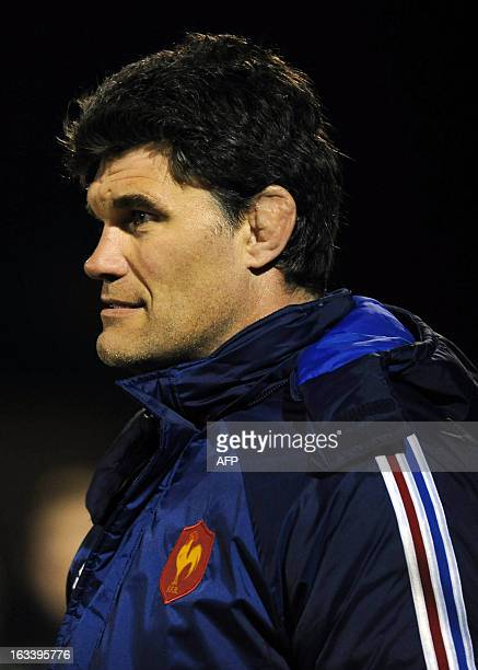 France's under-20 rugby team manager Fabien Pelous attends the Six Nations Under-20 international rugby union match between Ireland and France in...