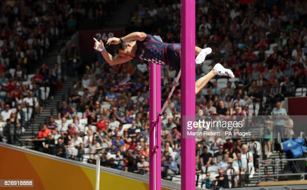 France's Valentin Lavillenie during the Men's pole vault on day three of the 2017 IAAF World Championships at the London Stadium