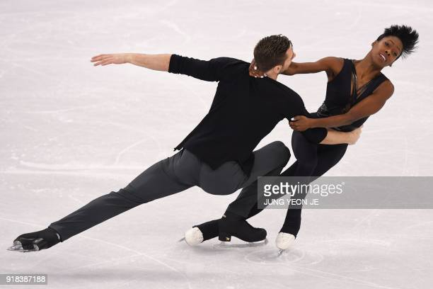 TOPSHOT France's Vanessa James and France's Morgan Cipres compete in the pair skating free skating of the figure skating event during the Pyeongchang...