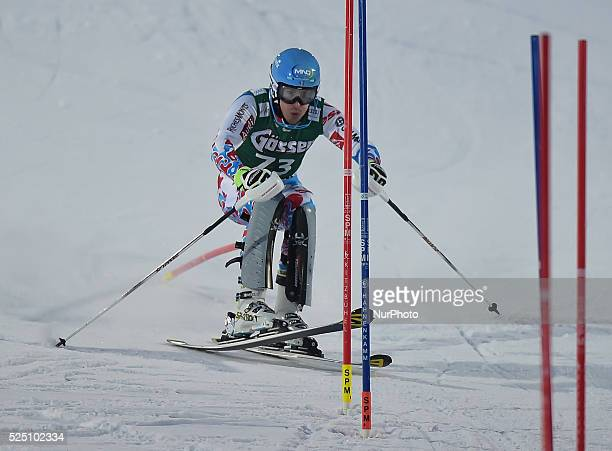 France's Victor Muffat-Jeandet, during the famous Hahnenkamm course - the men's Alpine Combined - Slalom, at the FIS SKI World Cup in Kitzbuehel. 23...